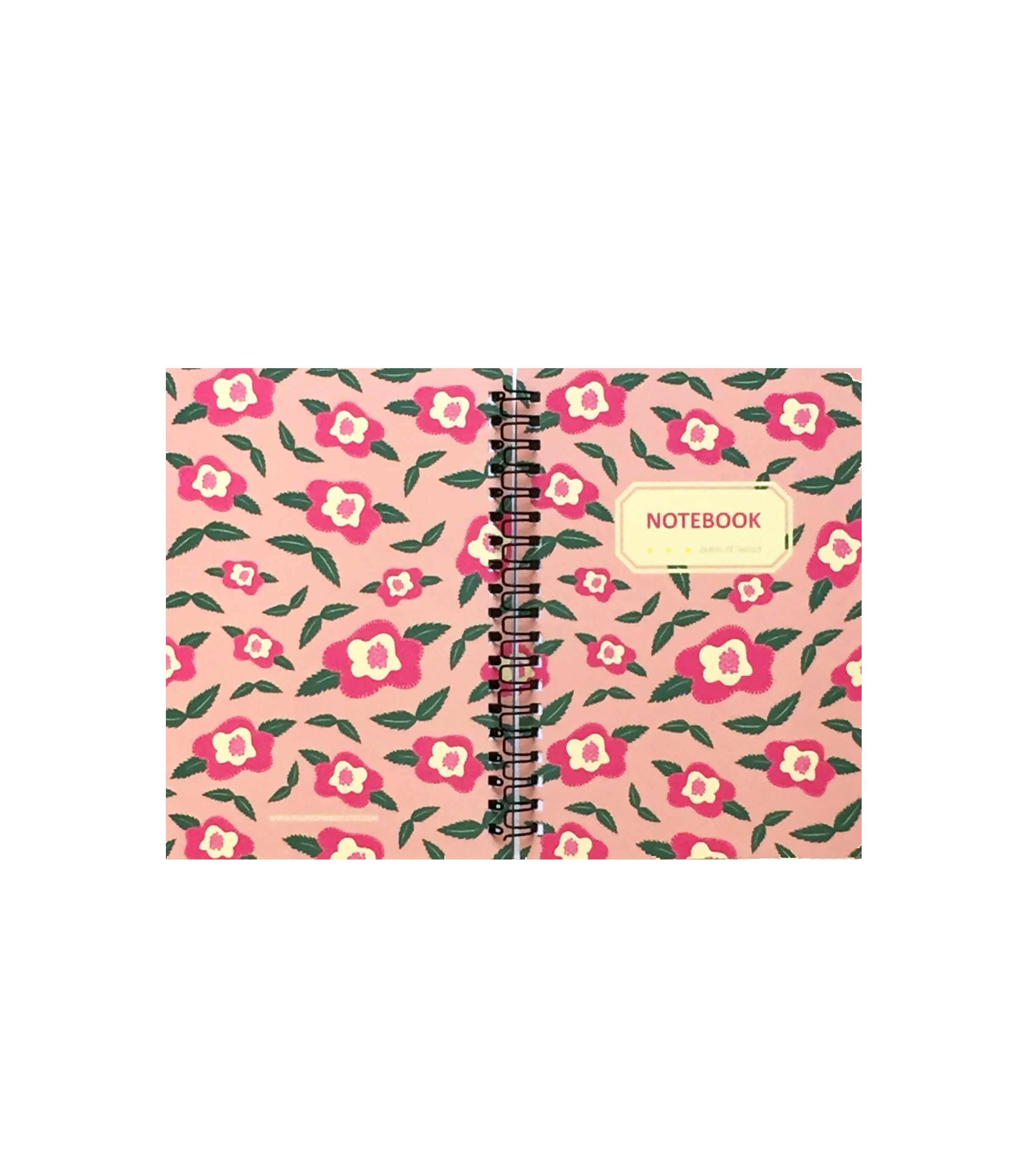 Spiral Notebook | Floral in Peach