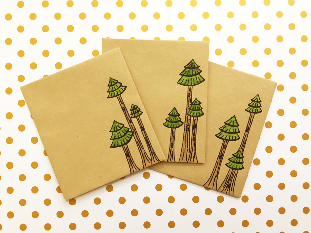 Handmade Envelopes | Trees