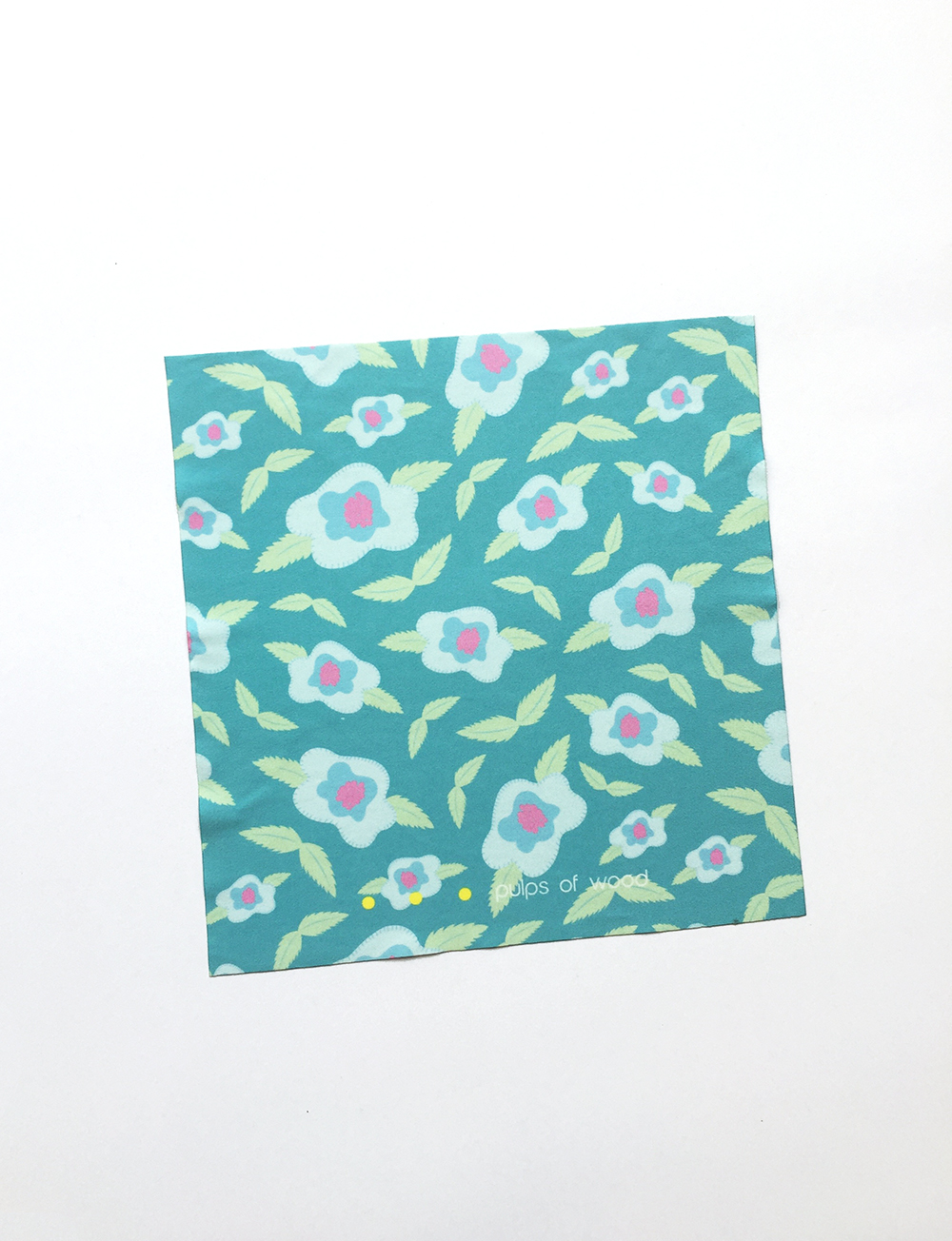 Screen Cloth | Floral in Teal
