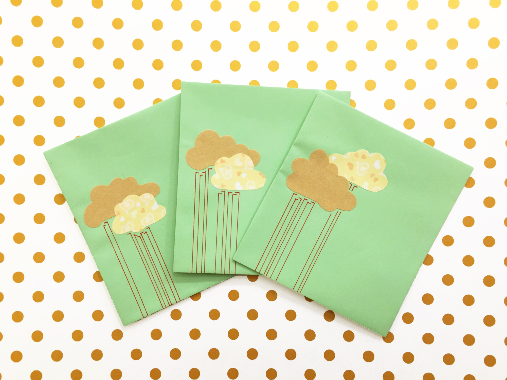 Handmade Envelopes | Clouds