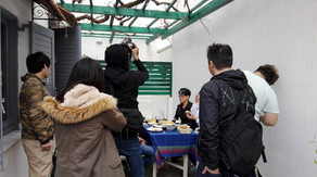 Filming in Crete-Japanese Tv Show