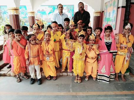 ज्ञानोदय गुरुकुल पटना में श्री कृष्ण जन्माष्टमी के उपलक्ष्य में कृष्ण प्रतियोगिताओं का आयोजन