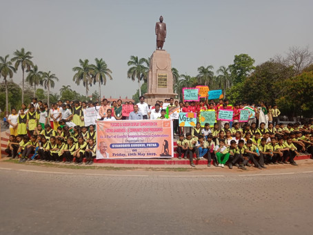 बच्चों ने निकाली मतदान जागरूकता मार्च