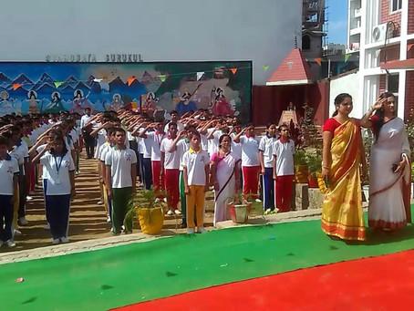 ज्ञानोदय गुरुकुल स्कूल में 72वें स्वतंत्रता दिवस सह सांस्कृतिक कार्यक्रम का आयोजन