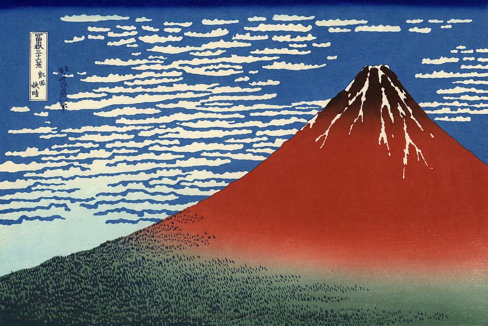 Hokusai's Red Fuji