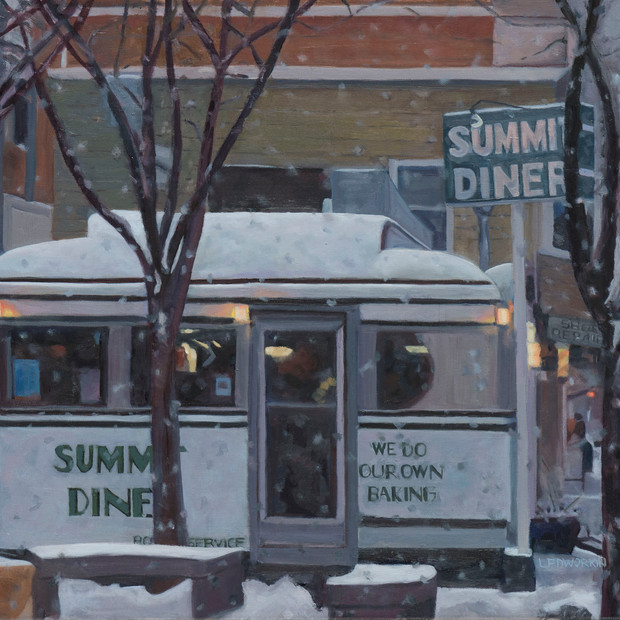 Summit Diner: Late Afternoon in Winter