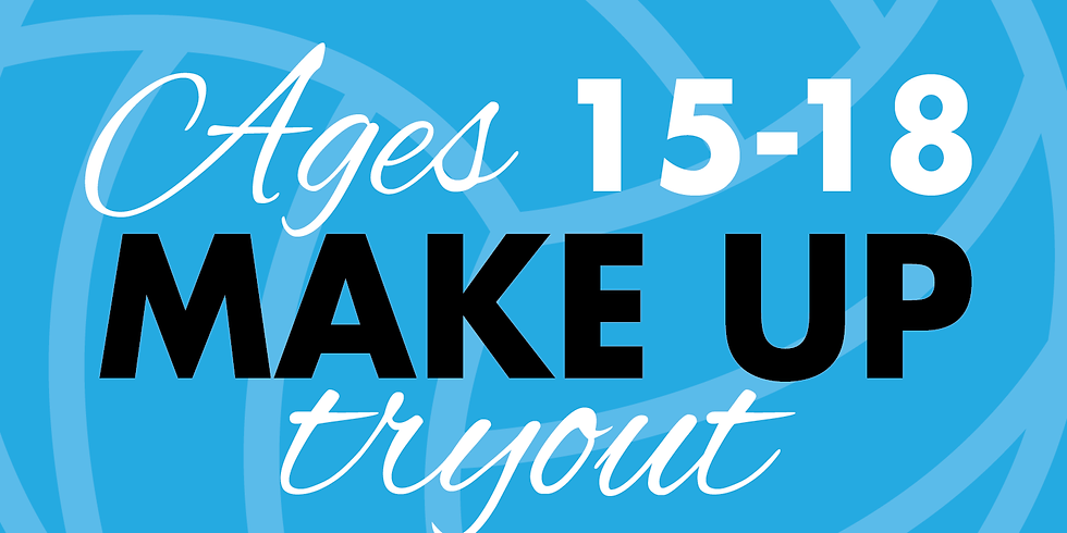 Ages 15-18 Try Outs | November 3