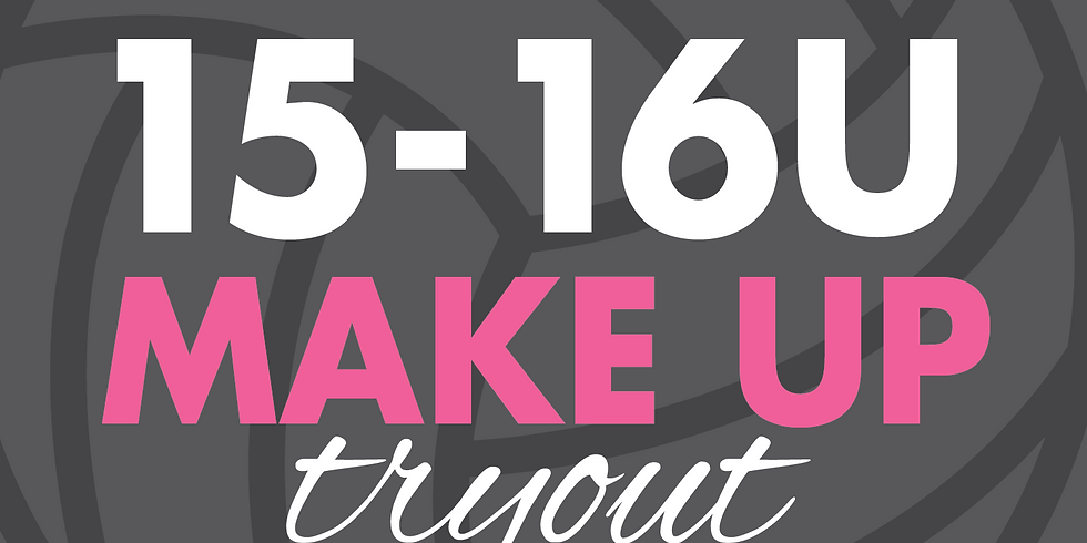 15-16U Make Up Try Outs | September 2