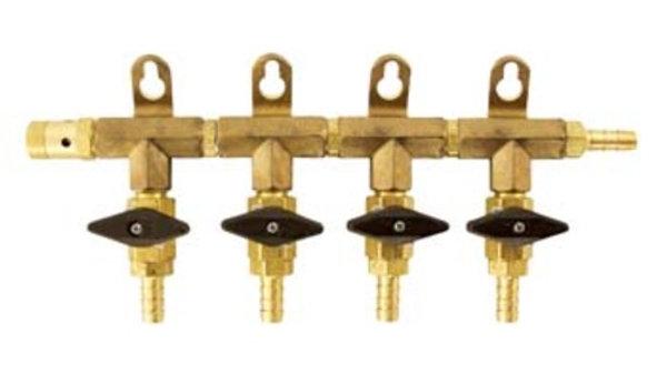 Gas Manifold - 5/16 in. (Brass) 4 Way