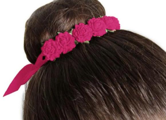 Bun Flower Piece in Mulberry Pink