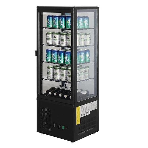 Polar Chilled Display Cabinet Black - 98Ltr