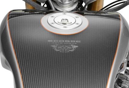 Carbon Fiber Fuel Tank - Driver View