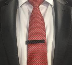 Tie Clip Jacket Close up