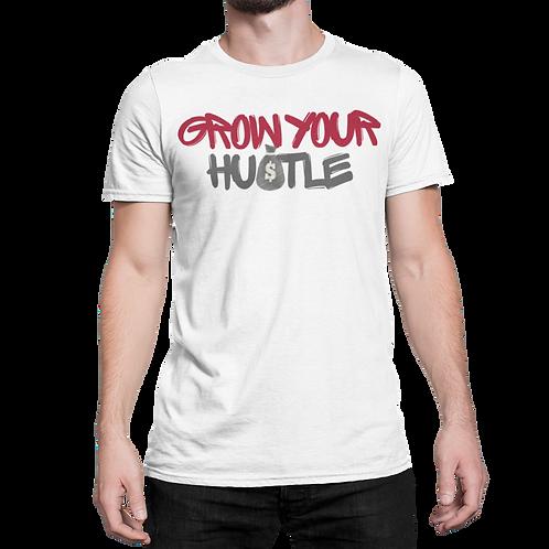 Grow Your Hustle Dark Grey Sleeve Tee