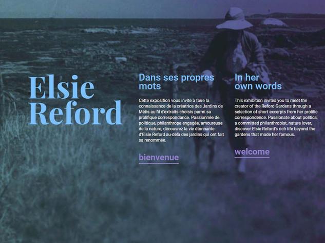 Elsie Reford : In Her Own Words