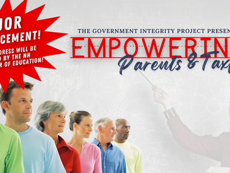MAJOR ANNOUNCEMENT! NH Commissioner of Education to Speak at GIP's Empowering Parents Event!