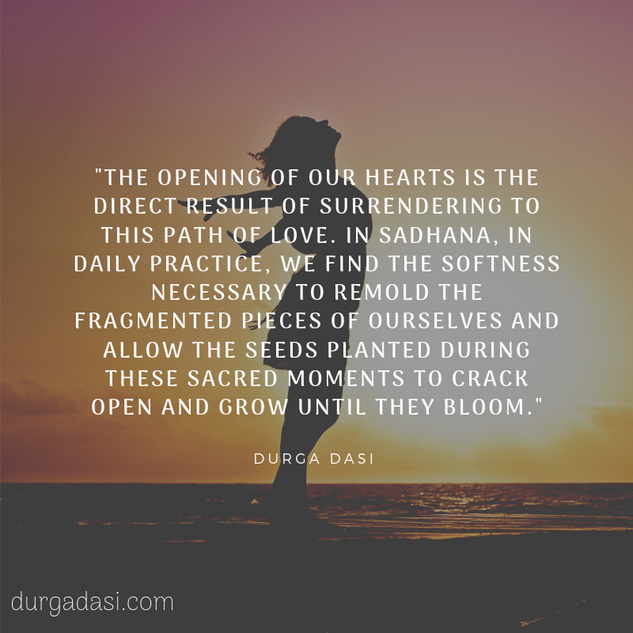 opening of our hearts