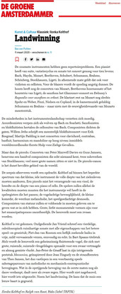 De Groene Amsterdammer // Bas van Putten