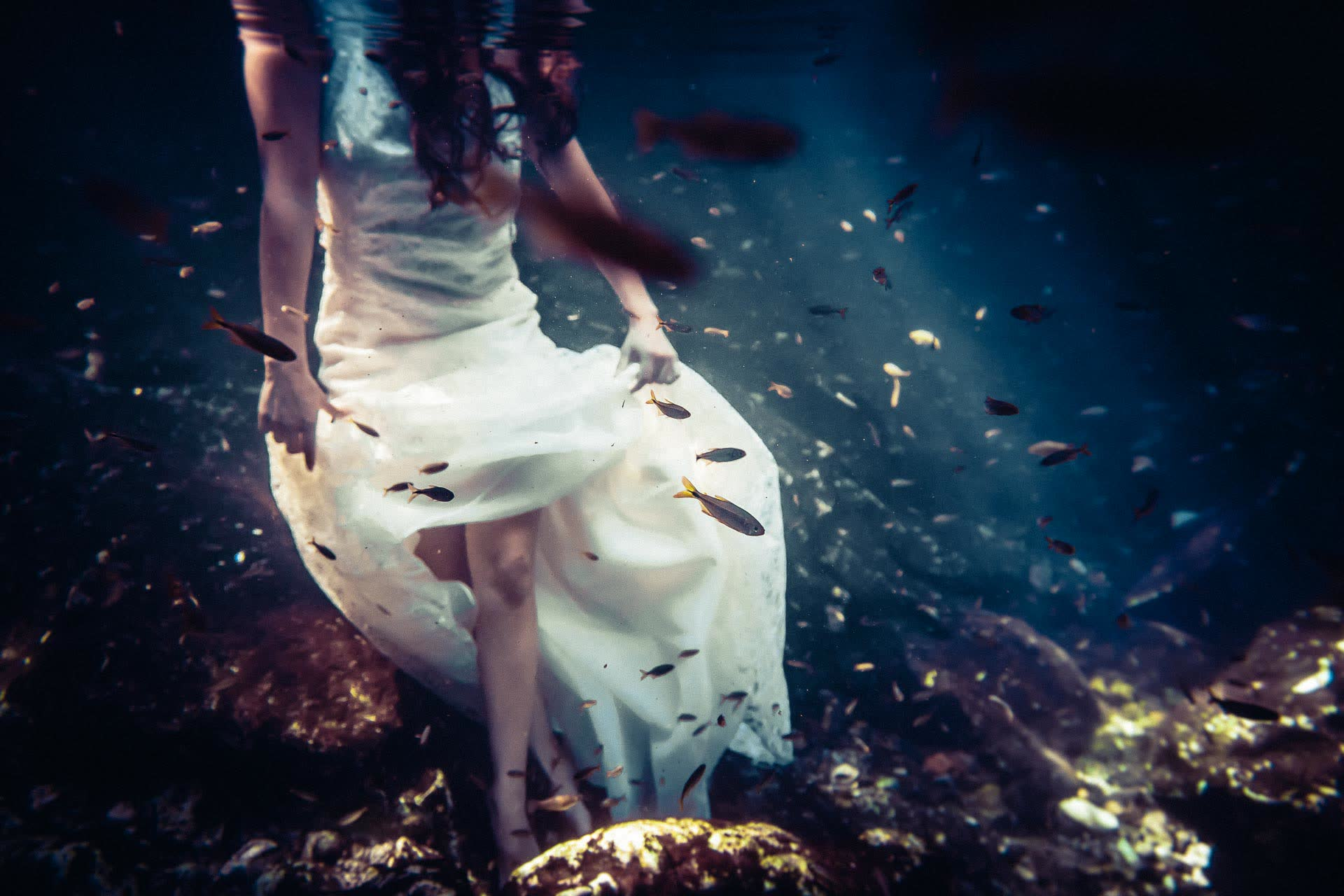 trash the dress cenote riviera maya