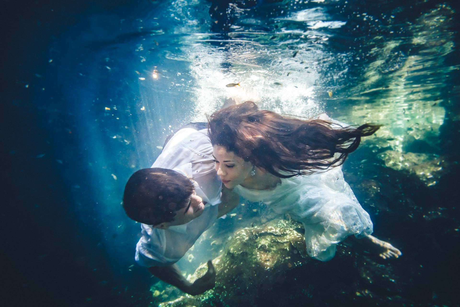 trash the dress cenote