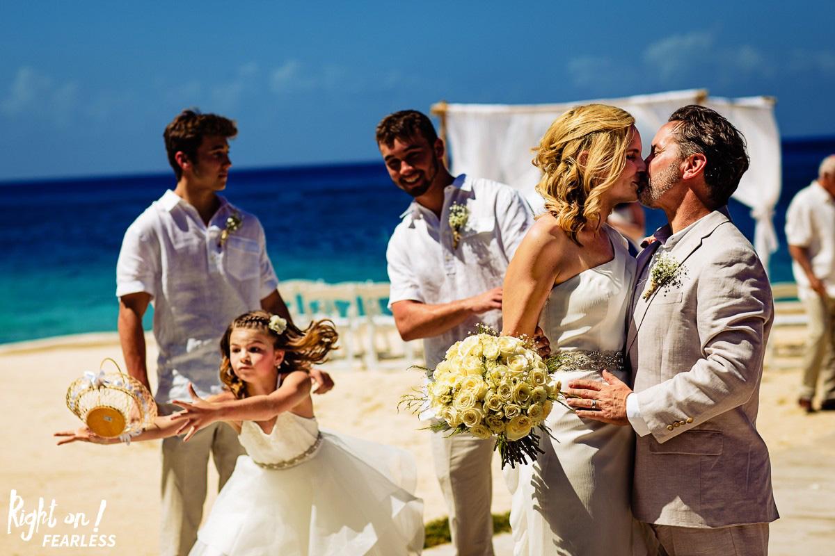 flower girl beach wedding destination photographer cozumel