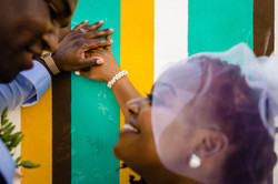 colorful wedding elopement