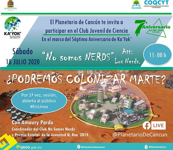Podremos Colonizar Marte 7Aniv 18Jul2020