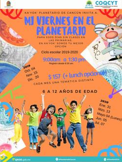 Viernes de Planetario 2019-2020