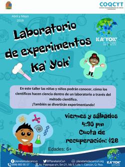 Laboratorio de experimentos Ka'Yok'