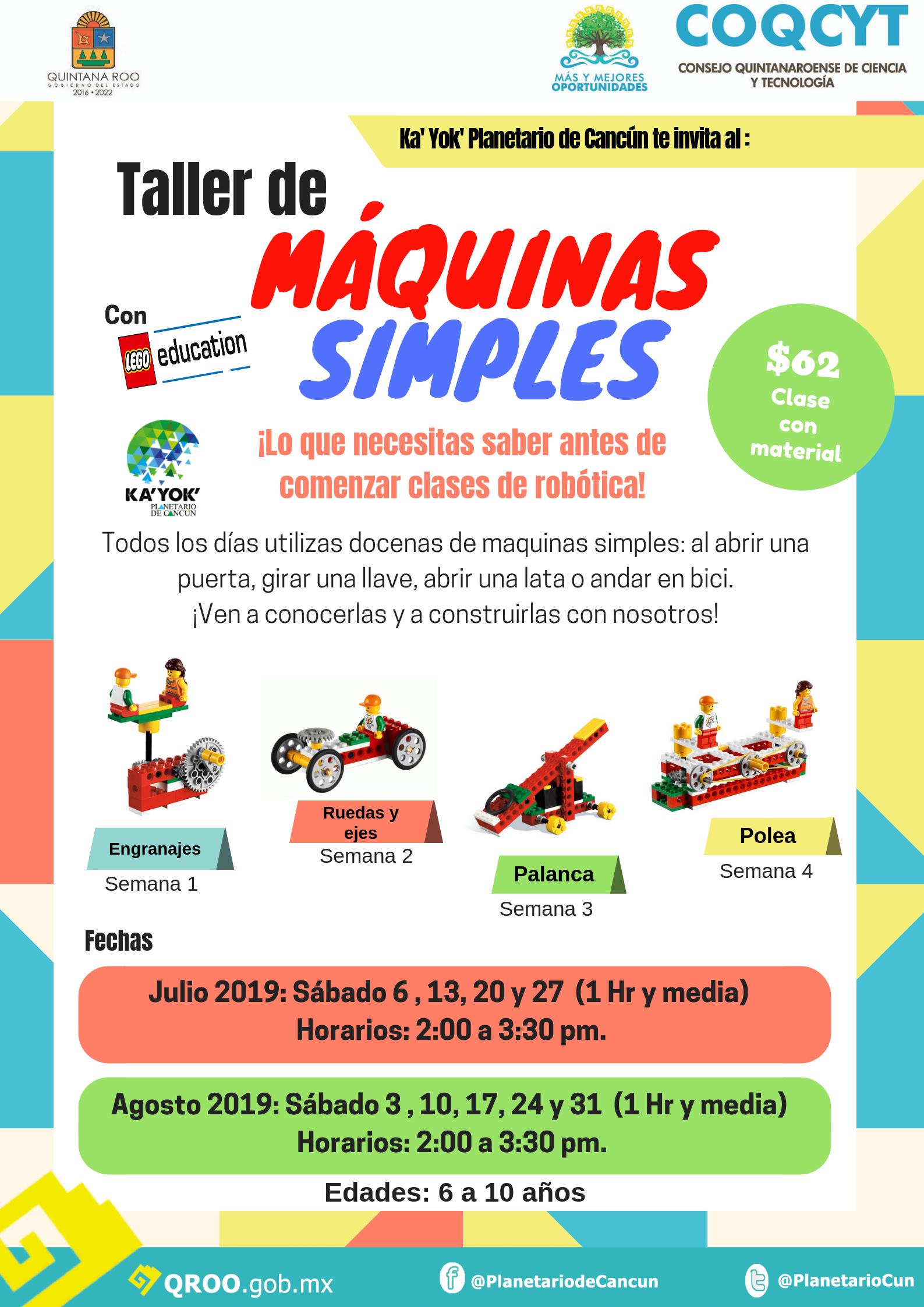 Taller:Máquinas Simples Jul-Ago 2019