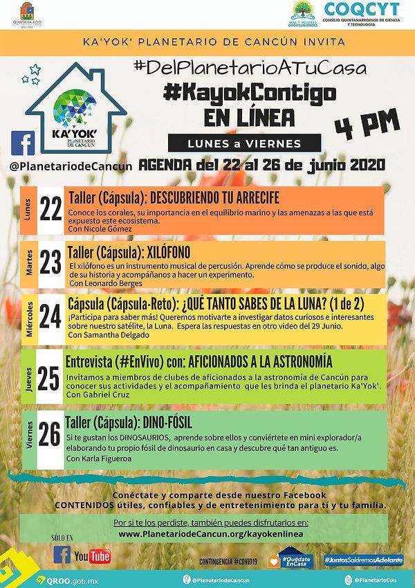 KaYokContigo AGENDA 15-19 Junio 2020 (1)