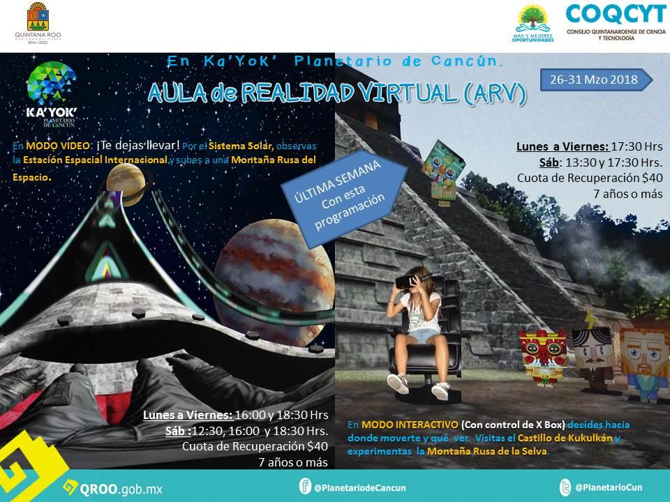 Aula de Realidad Virtual (26-31 Mzo)
