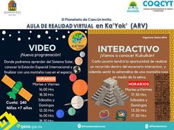Horarios Aula Realidad Virtual Enero2018