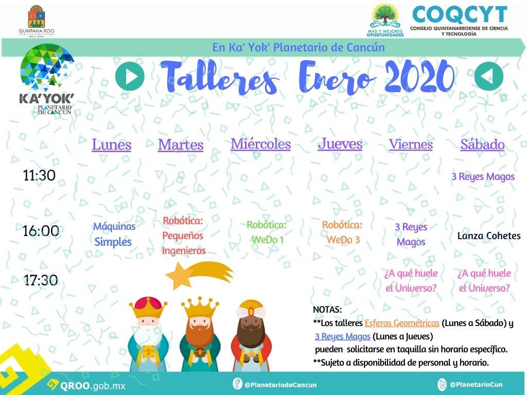 Talleres Enero 2020 (Cartelera)