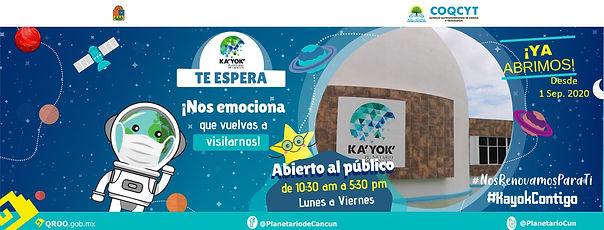 1. FB Te Espera -Ya abrimos WEB 1Sep2020
