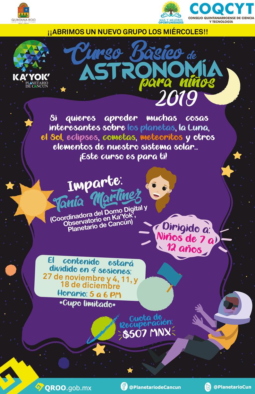 Curso de Astronomía para Niños 2019