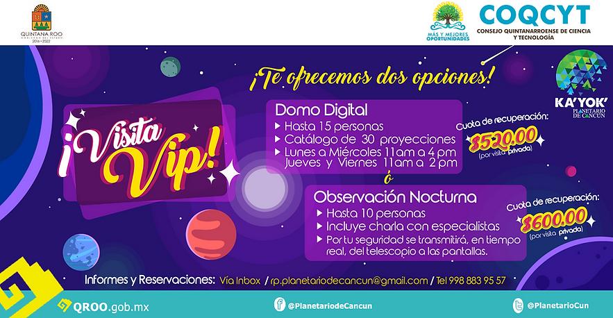 Visita VIP Domo u Observatorio Kayok- $O