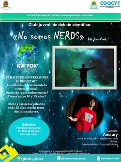 """""""No Somos Nerds"""" Club de Ciencia"""