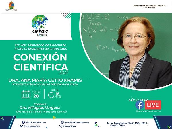 Conexión Científica Ana Ma. Cetto Kramis 28Sep2021.jfif