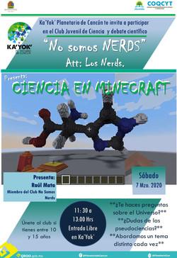 NERDS Ciencia en Minecraft