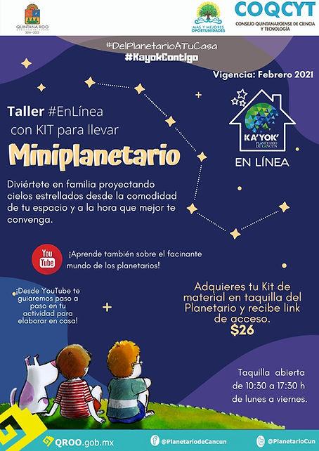 MINI Planetario Taller en linea Feb2021