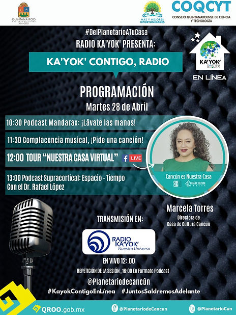 Radio Kayok TourVirtual CCC 28Abril2020