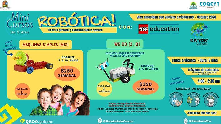 Robotica con Lego Education en Kayok Planetario