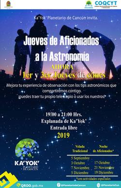 Jueves Aficionados a la Astronomía