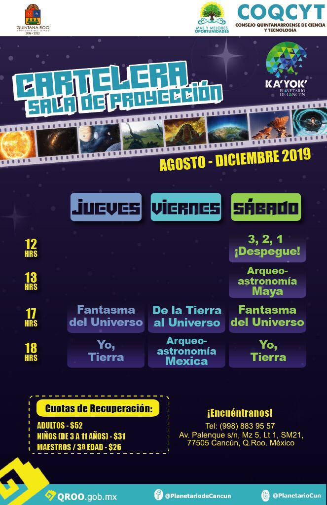 Proyecciones 29 Ago-14 Dic 2019