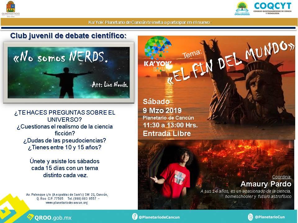 """NO SOMOS NERDS:""""El Fin del Mundo"""""""