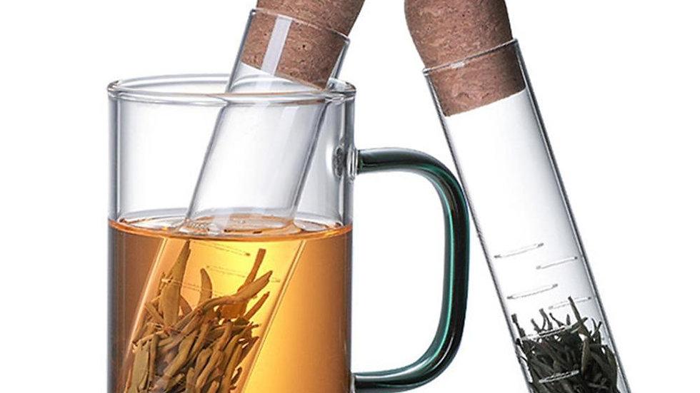 Reusable Glass Tea Infuser Creative Pipe Design Tea Tools Tea Cup Strainer