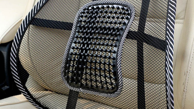Pain Relief Car Chair Back Support Massage Mesh Car Office Lumbar Back Support