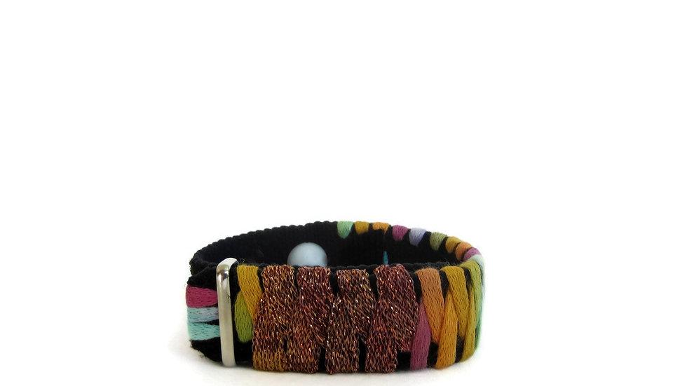 Acupressure Anxiety Bracelet Adjustable Discreet Stress Relief, Amber