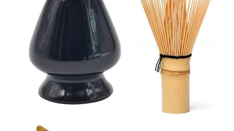 Matcha Green Tea Whisk Set - Tea Whisk -Scoop- Spoon  Bamboo Tea Set Accessories